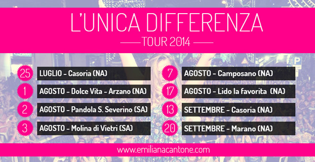 Concerti Emiliana Cantone Tour Estate 2014